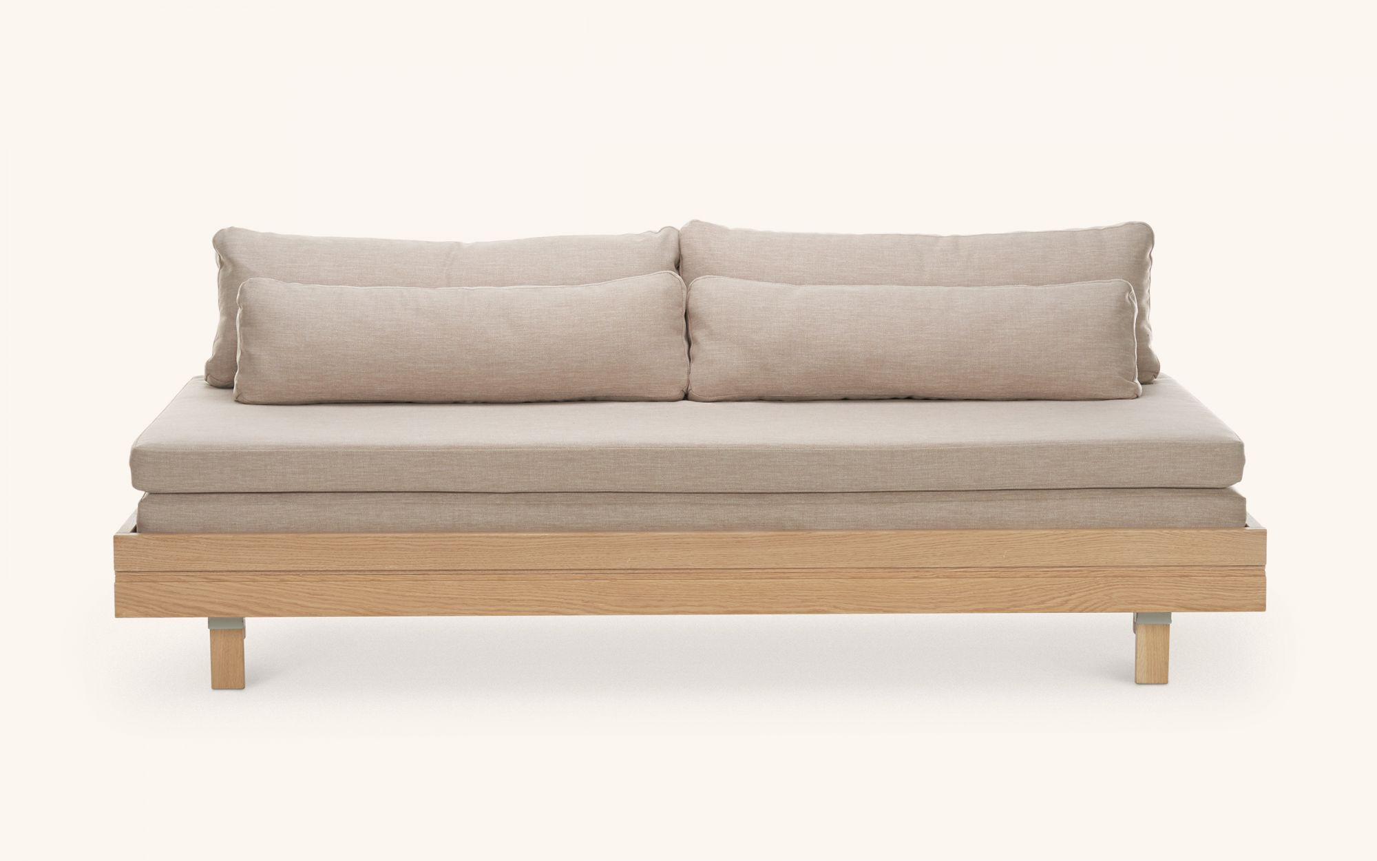 Day&Night Sofabed - oak beige front view