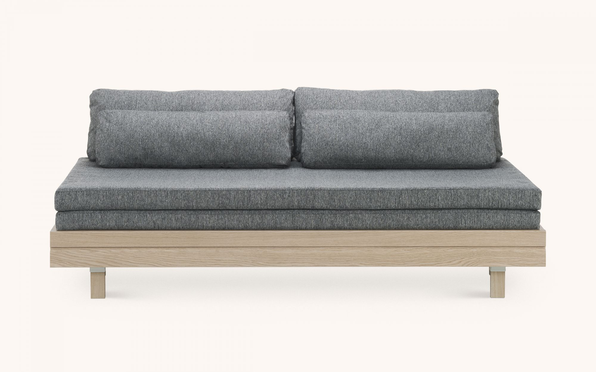 Day&Night Sofabed - oak grey front view