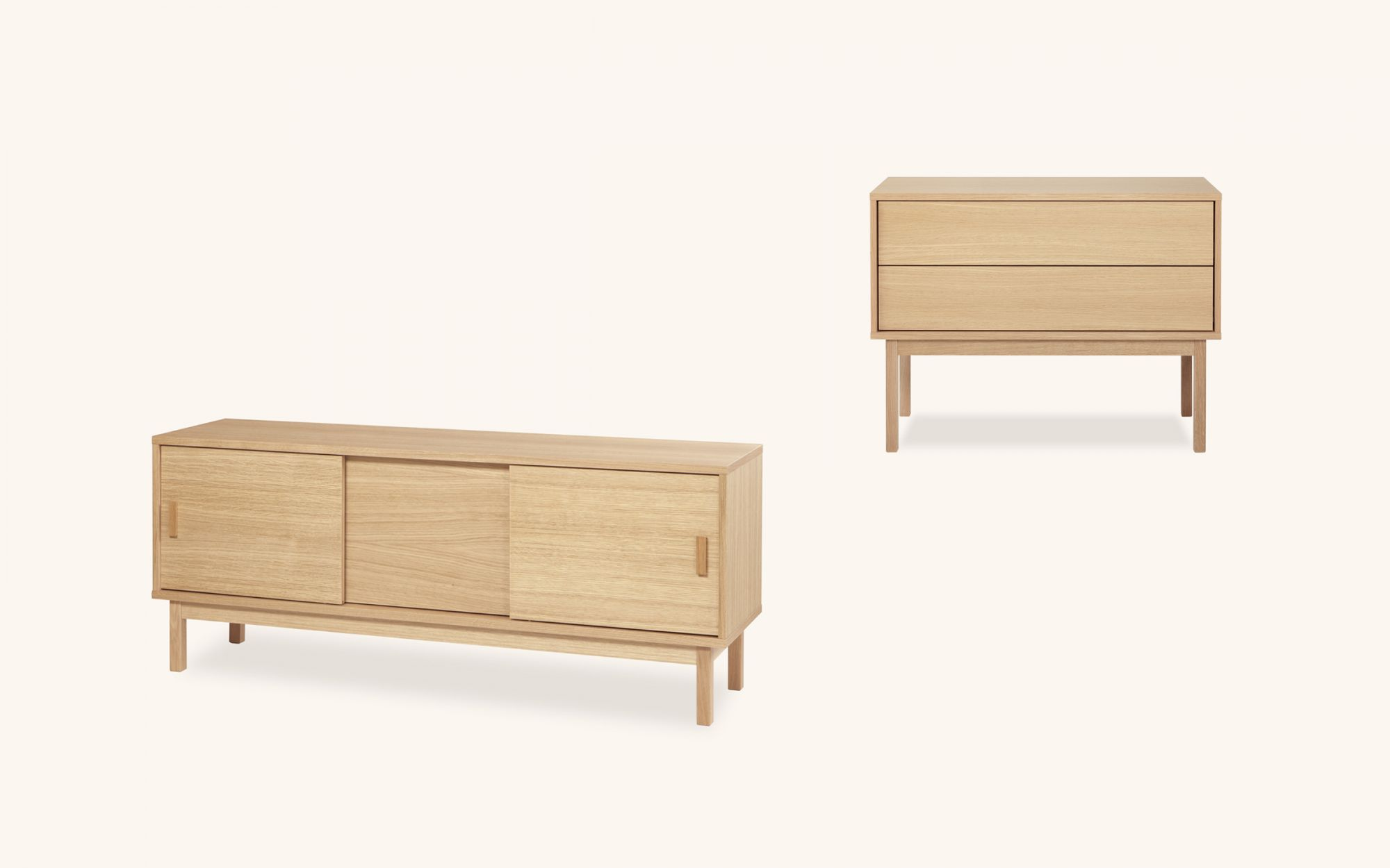 Linkki Cabinet Drawer - oak set