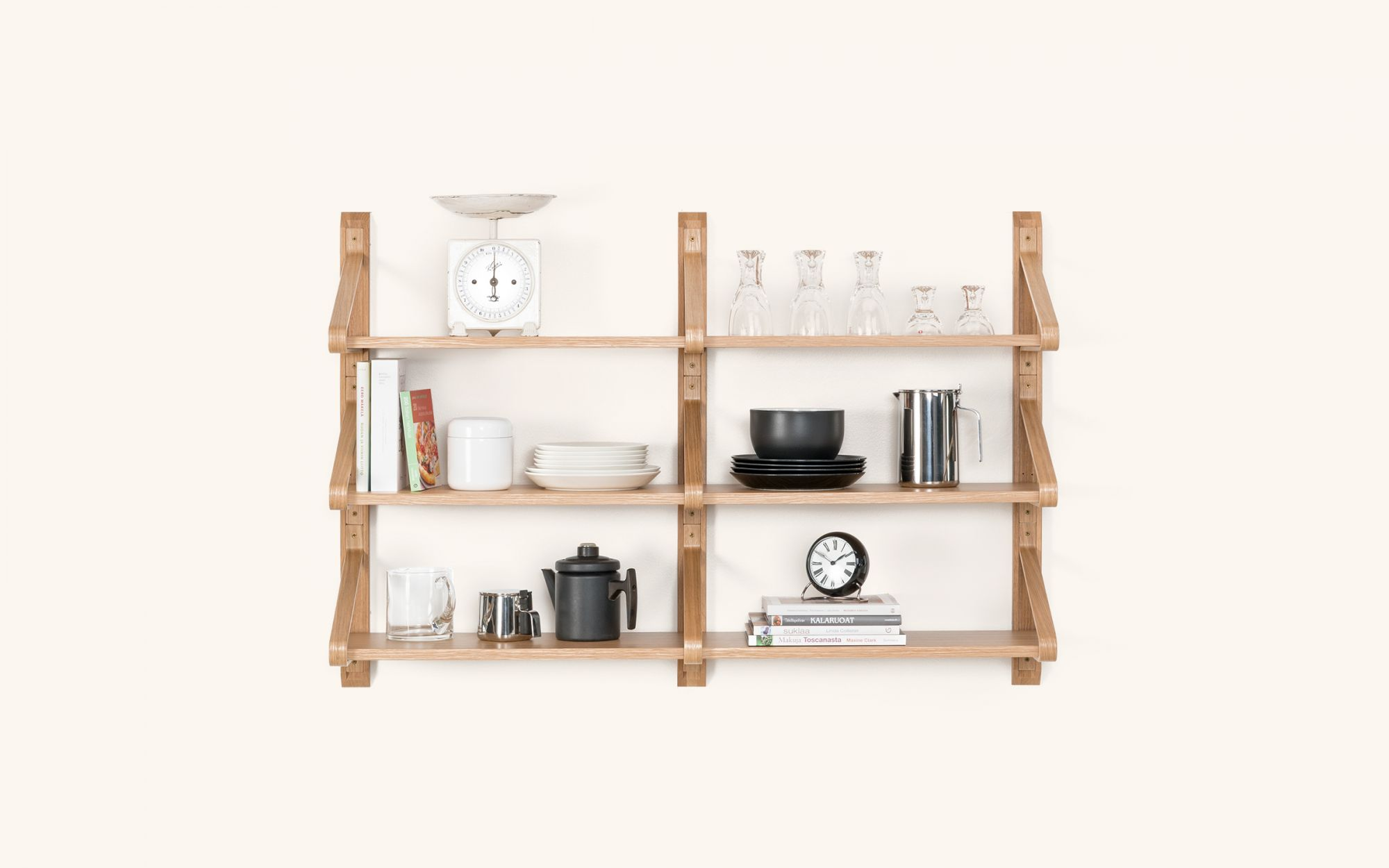 Linkki Shelf - oak set3