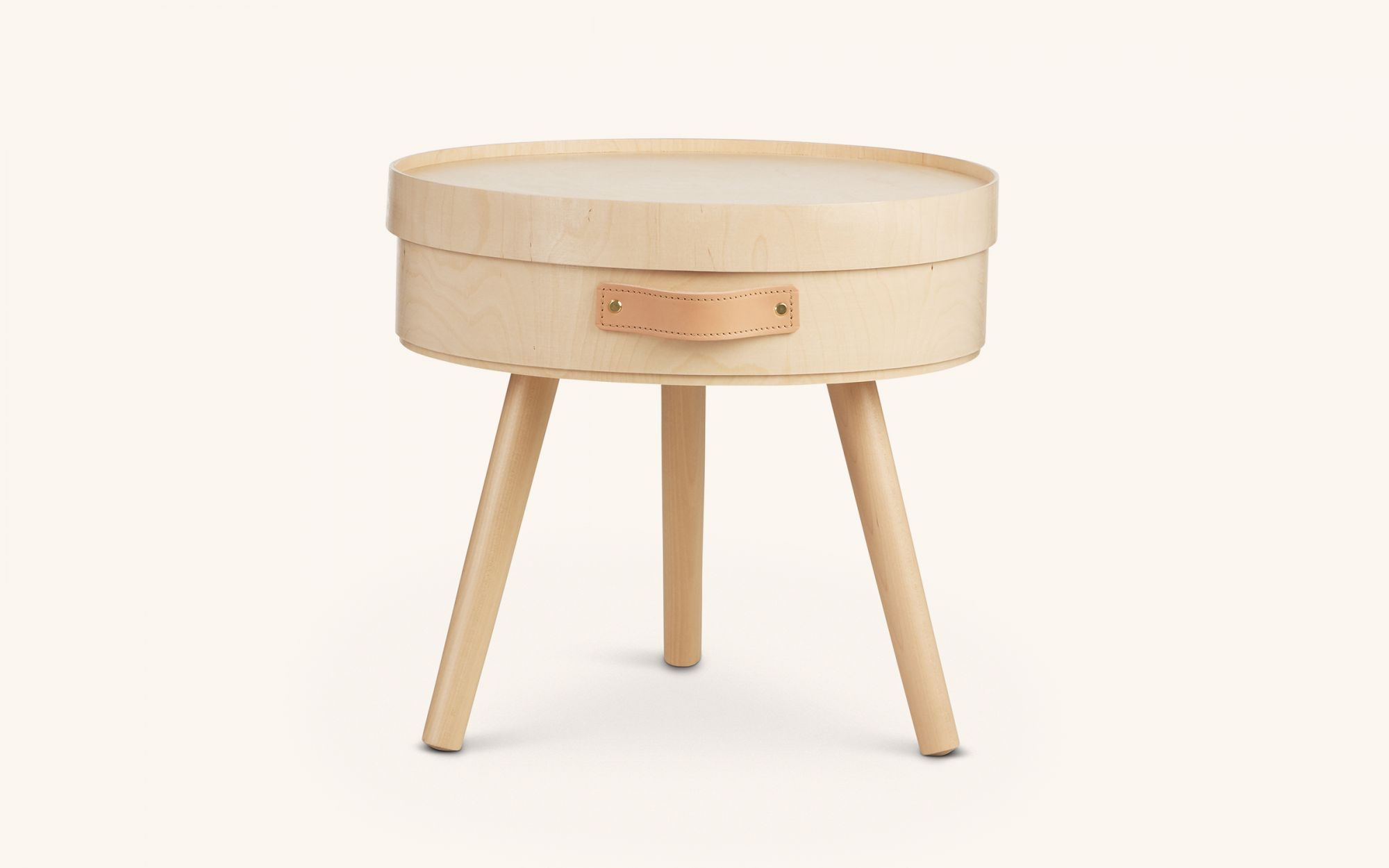 Aski Sidetable - XL size leg birch