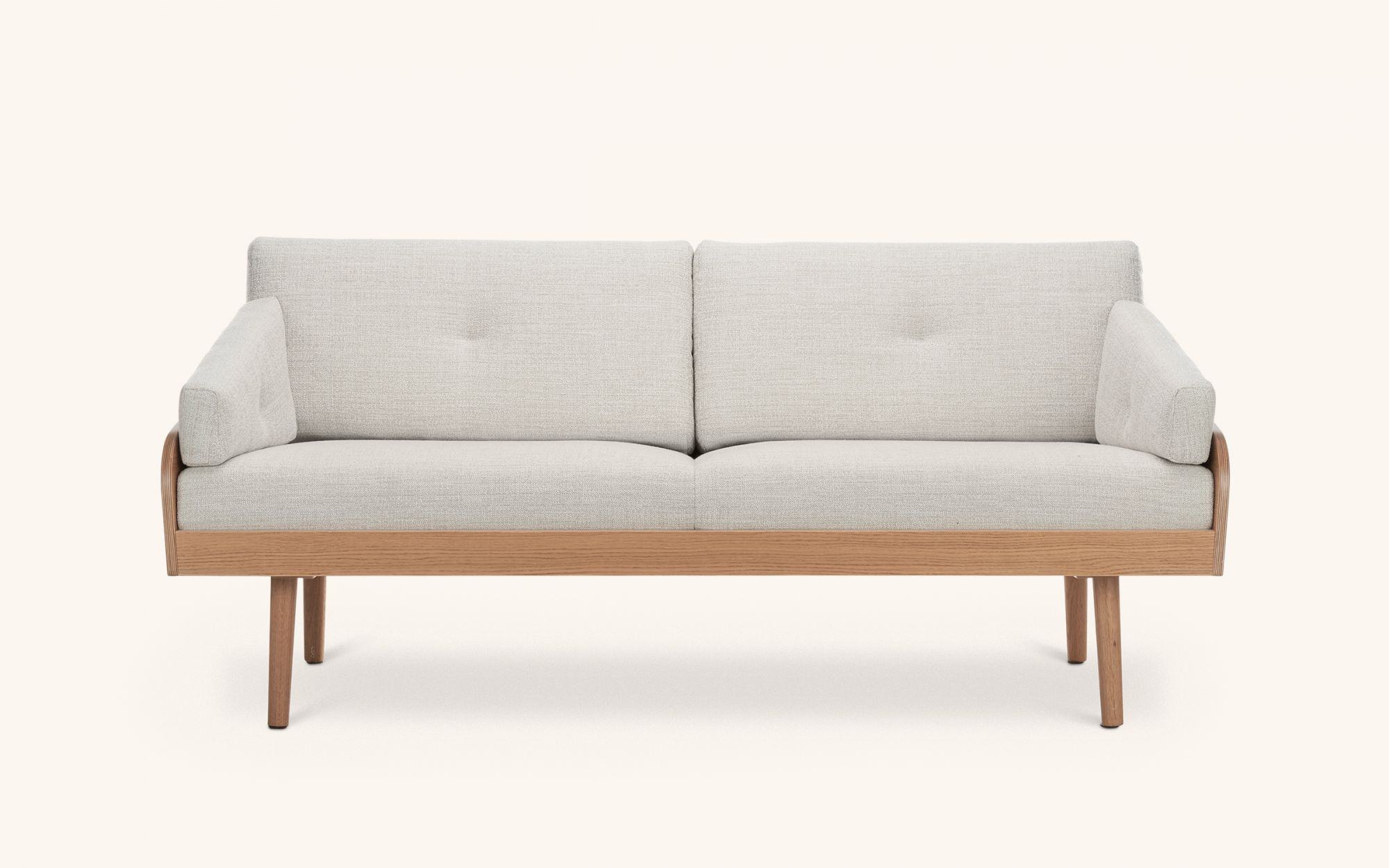 Case Sofa - oak beige front view