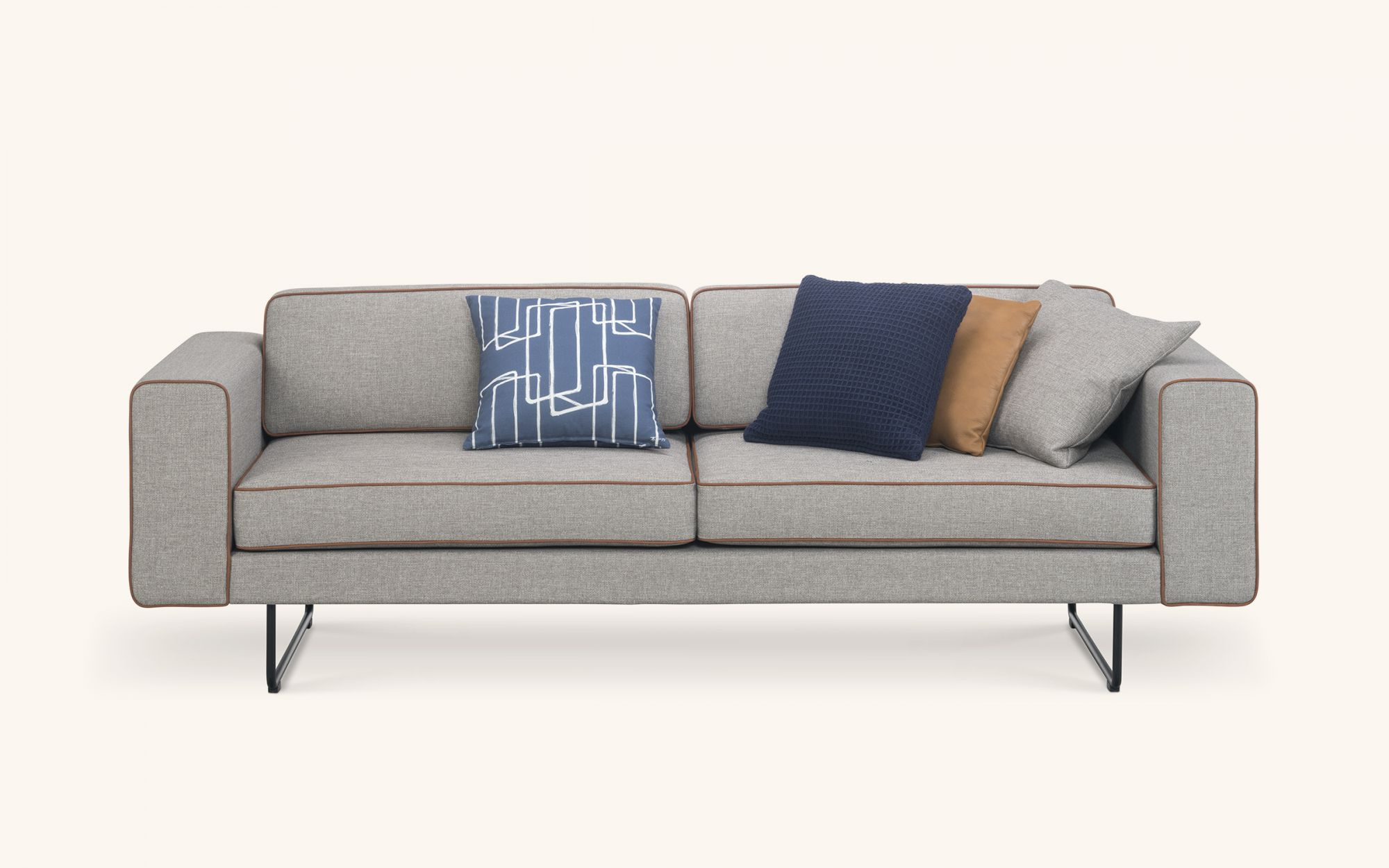 Rim Sofa - grey front view