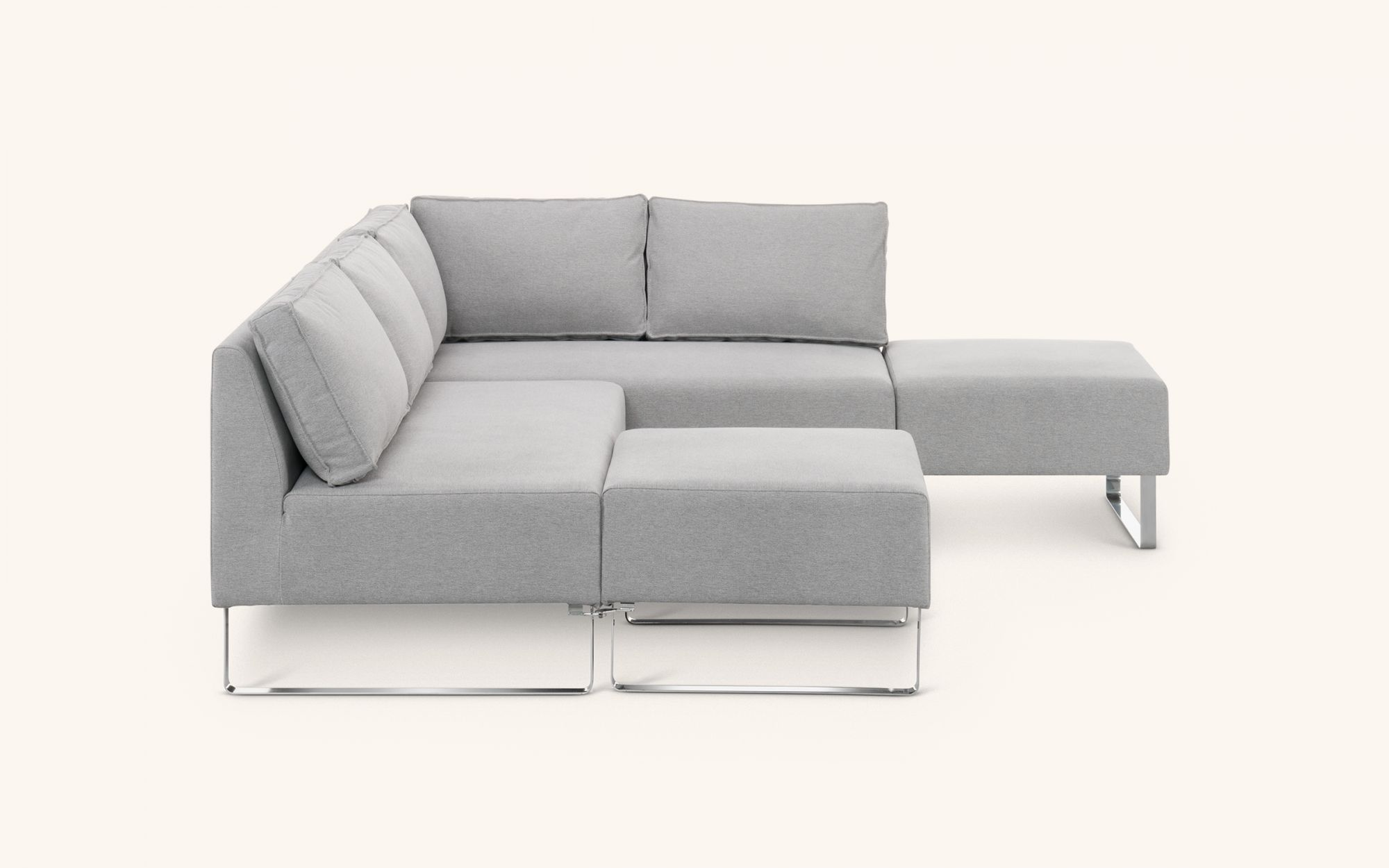 Awa Sofabed - grey front view