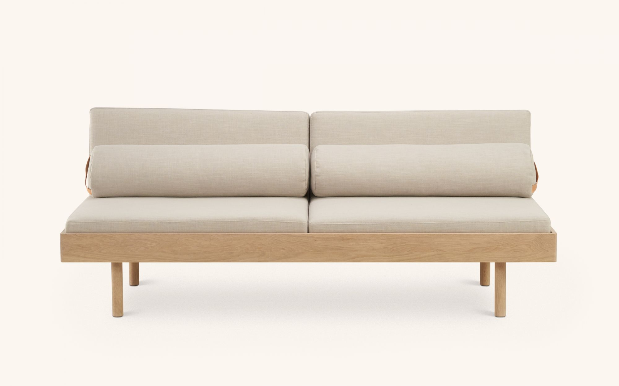 Frendi Sofabed - oak beige front view