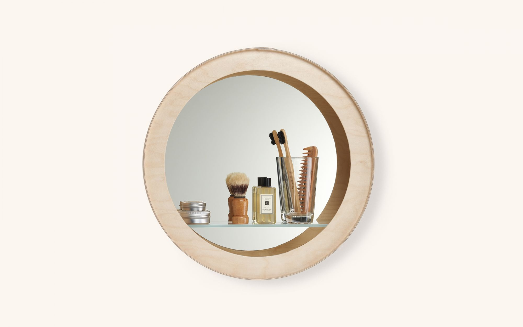 Aski shelf mirror - birch mood