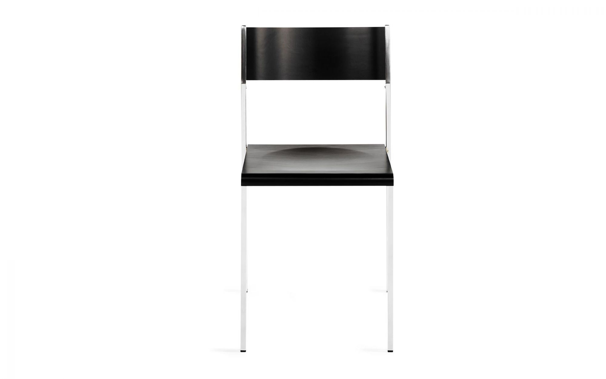 Chair Flow wood birch plywood black  front view