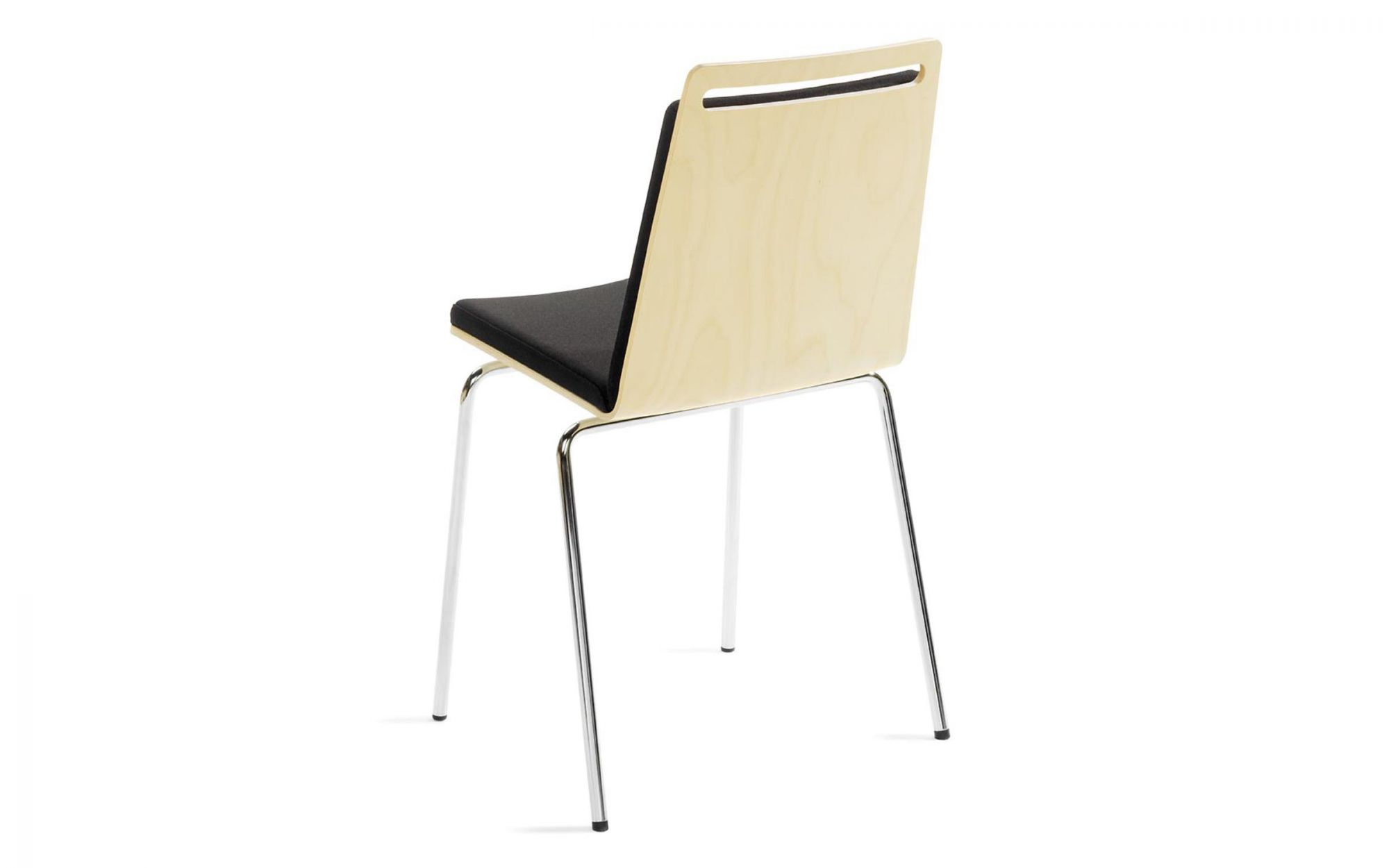 Chair Moment birch plywood chrome